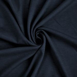 Navy French Terry Spandex Fabric