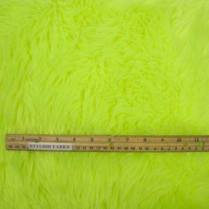 """Neon Green 60"""" Wide 1-2'' Long Pile Luxury Shag Fur"""