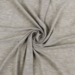 Oatmeal Solid Poly Rayon Spandex 160 GSM Light-Weight Stretch Jersey Knit Fabric
