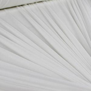 Off White Nylon Power Mesh Fabric