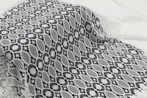 Off White Elsie Medallion Stretch Lace Fabric