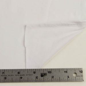 Off White Solid Double-Sided Brushed DTY Stretch Fabric