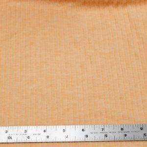 Orange Chambray 6x3 Brushed Poly Rayon Rib Knit