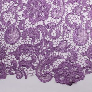 Orchid Venice Guipure Embroidered Lightweight Lace Fabric