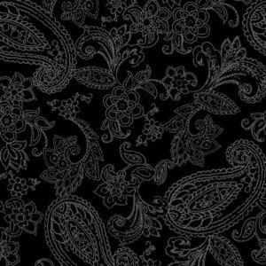 Printed Burnt-out Velvet Black