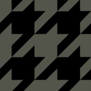 Army Green Black Houndstooth Printed on Hacci Rib Knit Fabric
