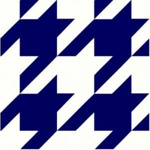 Heather Grey Navy Houndstooth Printed on Hacci Rib Knit Fabric