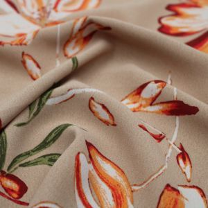 Latter Mango Painterly Floral Pattern Print Poly Moroccan by the Yard
