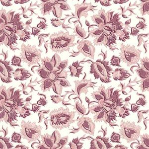 Off-white and Malaga Color on Floral Design Bubble Chiffon Fabric by the Yard