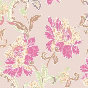 Blush Pink Carnation Floral Pattern Printed on Poly Power Mesh Fabric