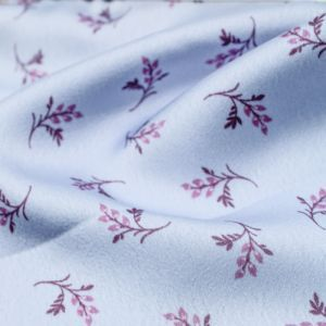 Peri Berry Ditsy Floral Pattern Printed Stretch Satin Fabric by the Yard
