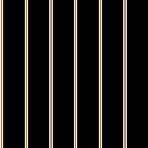 Black Mustard Seamless Striped Background on Crepe Chiffon Fabric