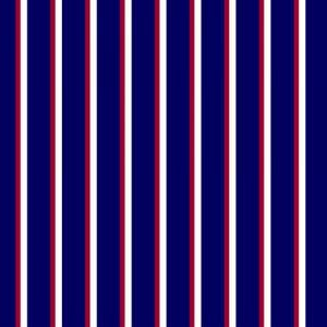 Navy Red Vertical Stripes on Wool Dobby Fabric by the Yard