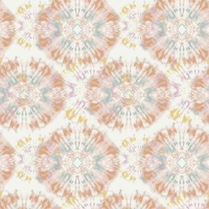 OffWhite Peach Tie Dye Ombre Pattern Printed Stretch Satin Fabric by the Yard