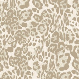 Birch Sand Leopard Skin Pattern Printed French Terry Fabric by the Yard