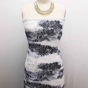 Silver Charcoal Tie Dye Ombre Pattern Printed Hi Multi Chiffon Fabric by the Yard