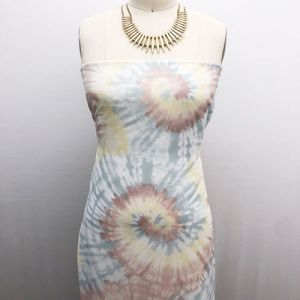 Rose Gold Sage Tie Dye Ombre Pattern Printed Hi Multi Chiffon Fabric by the Yard