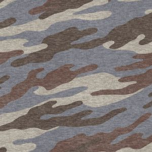 Dusty Blue Latte Camouflage Pattern Printed on Cotton Lycra Fabric