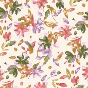 Blush Lilac Abstract Floral Pattern Printed Poly Moroccan Fabric