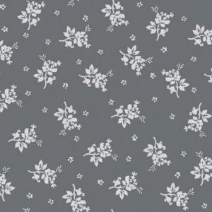 Sage Off White Floral Pattern Printed Rayon Crepon Fabric