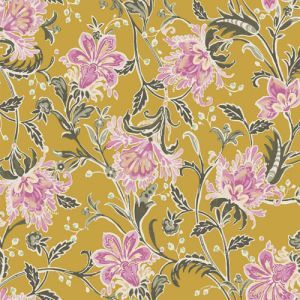 Mellow Yellow Rose Floral Prints on Tri Blend Poly Cotton Rayon Fabric by the Yard