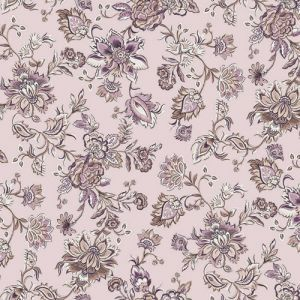 Blush Rose Floral Jacobean Ethnic Design Printed on Poly Moroccan Fabric