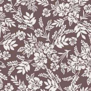 Blush Off White Ditsy Floral Pattern Printed Printed Stretch Satin Fabric by the Yard