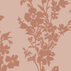 Blush Floral Printed Burnt-Out Velvet Fabric by the Yard