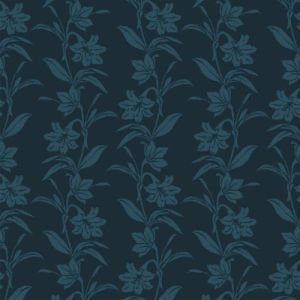 Teal Floral Printed Burnt-Out Velvet Fabric by the Yard