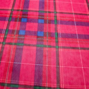 Fuchsia Cobalt Checkered  Pattern Printed Stretch Power Mesh Fabric by the Yard