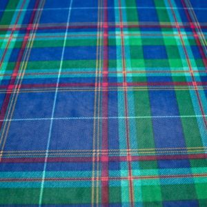 Royal Green Checkered  Pattern Printed Stretch Power Mesh Fabric by the Yard