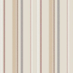Champagne Red Vertical Stripes Design Printed on Rayon Challis Fabric