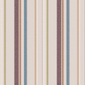 Dusty Pink Ruby  Vertical Stripes Design Printed on Rayon Challis Fabric