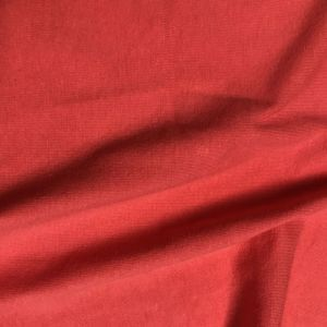 Red Scarlet Cotton Spandex Jersey Knit Fabric Combed 7oz