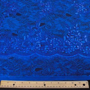 Royal Evelyn Floral Embroidered  Sequin Embroidered Lace Fabric