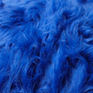 18x20'' Royal Blue 1-2'' Long Pile Luxury Shag Fur for Newborn Photography Basketr