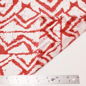 Rust Modern Geometric Pattern Chiffon Fabric