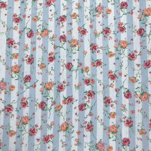 """Sky Coral 51"""" Light- Weight Rayon Crepon Fabric"""