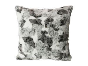 Spotted Faux Fur Throw Pillow Cover