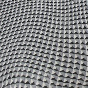 Steel Square Pattern Chiffon Fabric