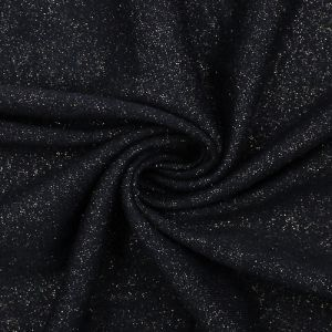 Gold Black Foggy Foil Print on Poly Rayon Spandex Solid Colors