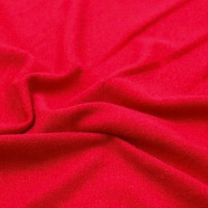 Red Red Foggy Foil Print on Poly Rayon Spandex Solid Colors
