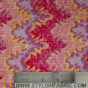 Mountain Pattern On Crochet Fabric With Brushed Finish-MAGENTA-LT-PINK