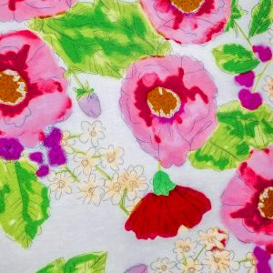 Groovy Print On 100% Rayon - LIGHT PINK WHITE