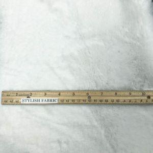 """White Winter Rabbit -2 CM Pile length Faux Fur 59"""" Fabric"""