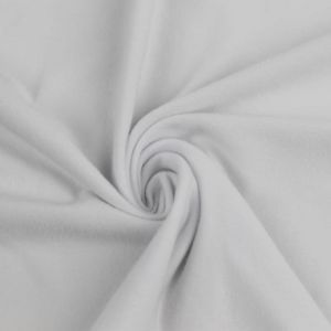 White Solid Double-Sided Brushed DTY Stretch Fabric