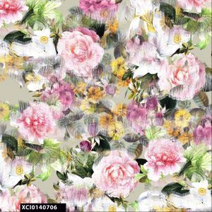 Blurred Flower Pattern 100% Cotton Quilting Fabric by the Yard