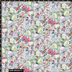 Romantic Floral Watercolor Design 100% Cotton Quilting  Fabric by the Yard